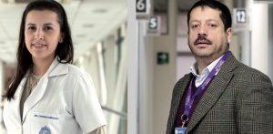 fotografía de la doctora Carolina Mendoza y el psicólogo Marcelo Cárcamo