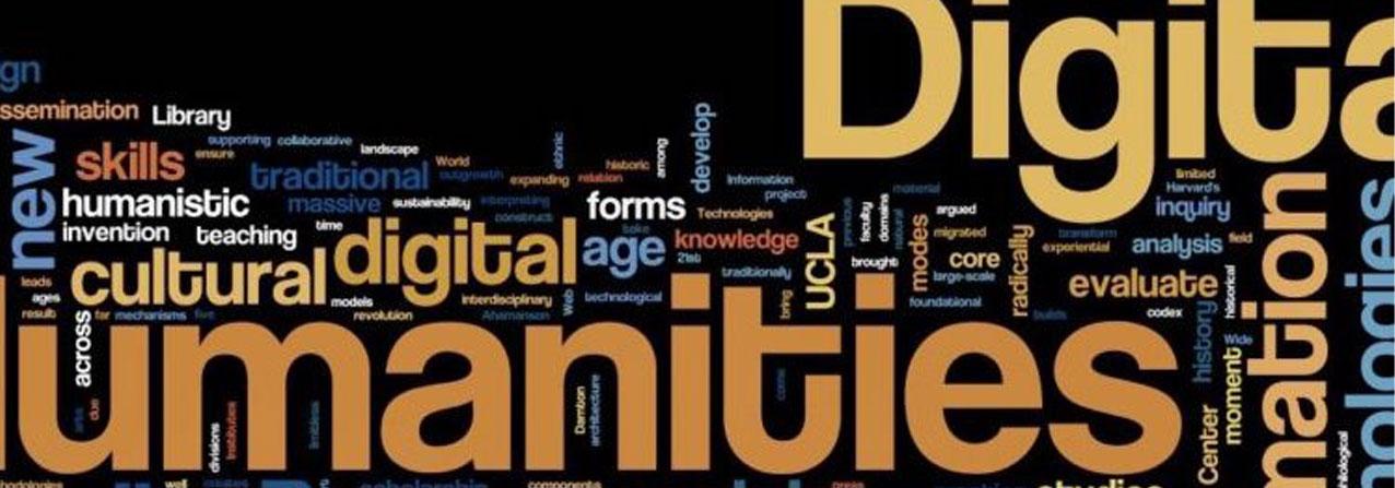 nube de palabras relacionadas con el concepto de digital humanities