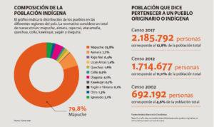 gráfico que muestra la composición de la población indígena
