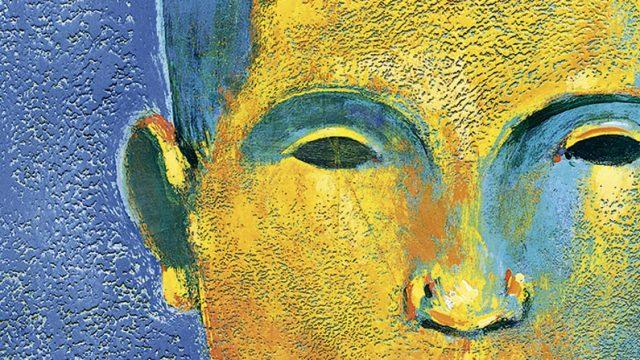 obra de Benjamín Lira, una cara de un hombre, hace alusión a los traumas