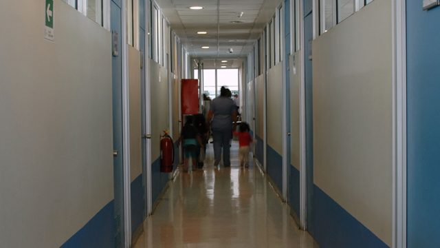 pasillo de un centro de salud