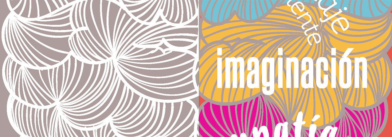 ilustración que muestra ambos hemisferios del cerebro con la palabra imaginación encima