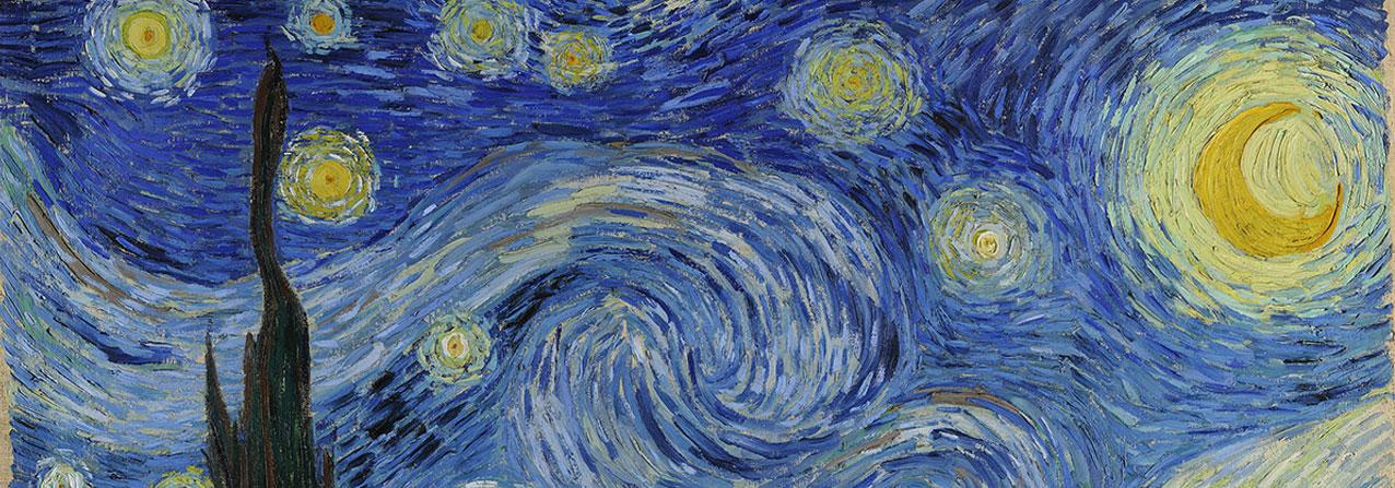 extracto del cuadro Noche estrellada de de Van Gogh, aludiendo a la salud mental