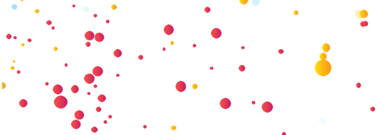 fondo blanco con puntos de colores, hace alusión a la industria creativa