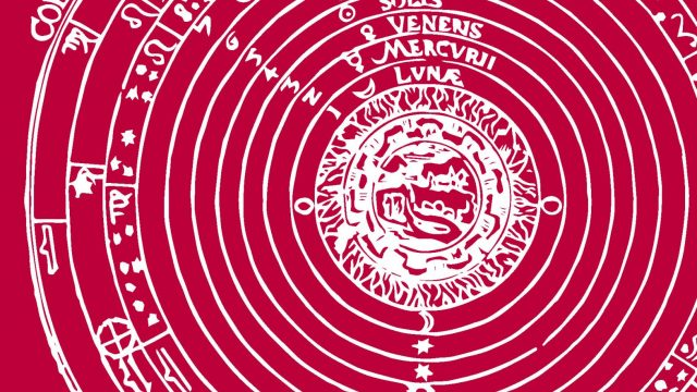 ilustración del Cosmos según Ptolomeo
