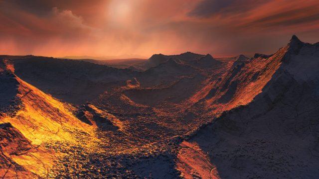 imagen de una tierra desértica, hace alusión algún planeta del universo