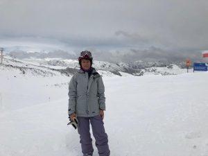 mariana krause en la nieve