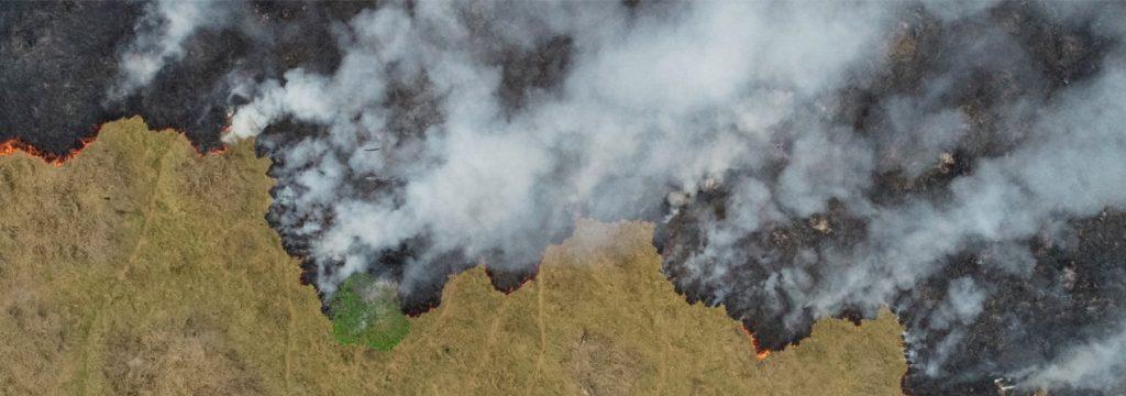 imagen satelital incendio forestal