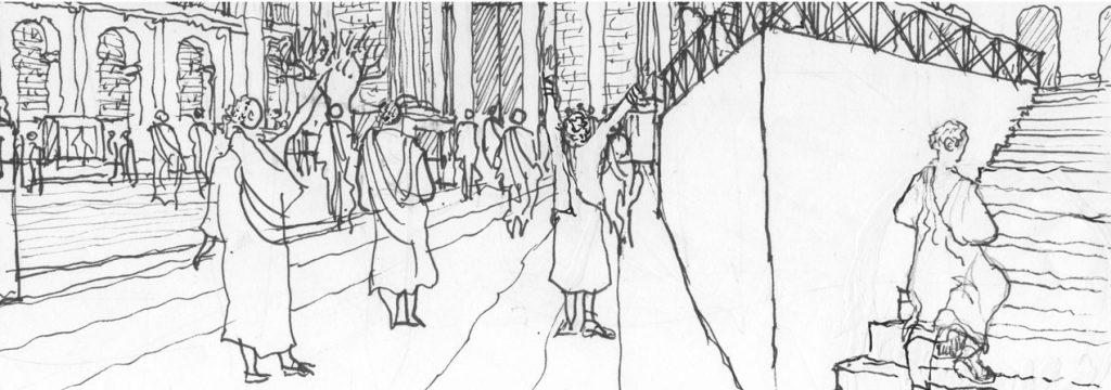 ilustración del foro romano