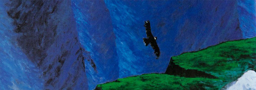 EL MUNDO. Acrílico sobre tela, 172 x 78 cm, 1995. Obra de Pablo Domínguez