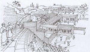 ilustración de una teatro griego