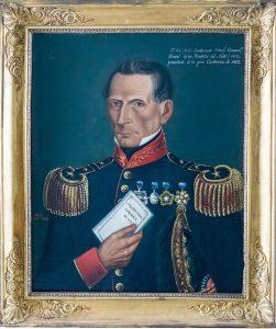 Retrato de Don José Antonio Bustamante Donoso (1850). Obra de Antonio Ávila