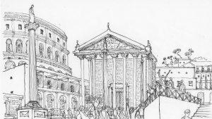 ilustracion del foro romano