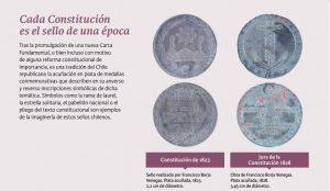 sellos conmemorativos de la firma de una nueva constitución: 1823, 1828