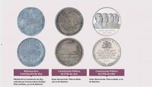 sellos conmemorativos de una nueva constitución: 1833, 1925, 1980