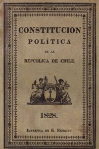 portada original de Constitución de Chile de 1828