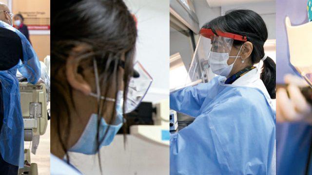 Diversas fotografías de funcionarios de la salud durante la pandemia