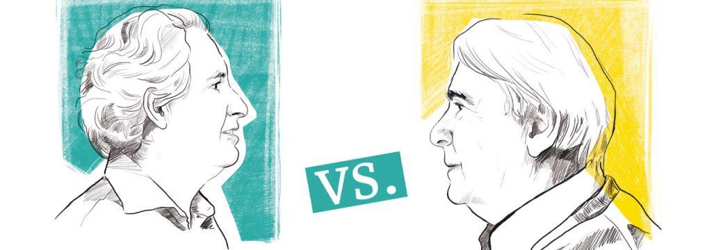Leonidas Montes y Enrnesto Ottones debaten en torno al Parlamentarismo y Presidencialismo