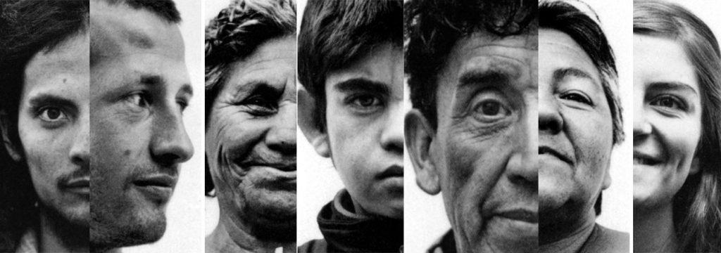 en la fotografía diversos rostros de personas