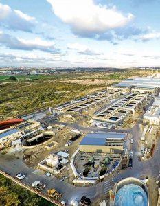 En la imagen la la planta desalinizadora de Sorek en Israel