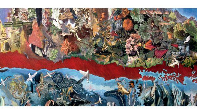 ilustración de Chile adornada con motivos típicos del país