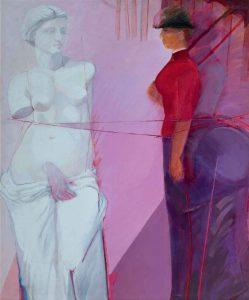 """Roser Bru. """"Venus versus Seurat"""", 1984. Acrílico sobre tela, 162 x 135 cm."""