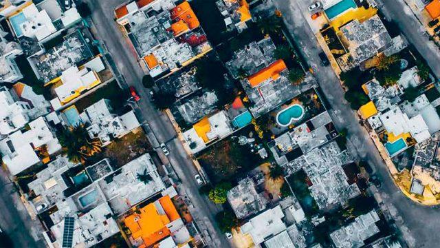vista aérea de una ciudad