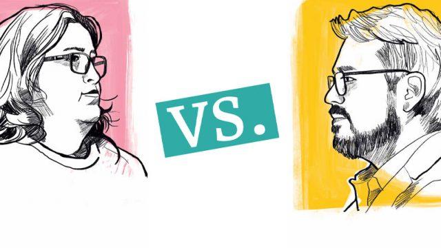 en la ilustración Daniella Leal y Juan Bravo